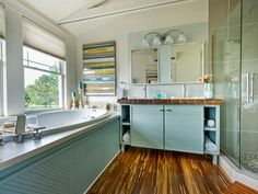 Tour Blog Cabin's Master Bathroom >> http://www.diynetwork.com/blog-cabin/master-bathroom-pictures-from-blog-cabin-2014/pictures/index.html?soc=pinterestbc14