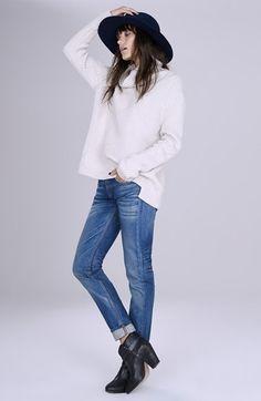 rag & bone Turtleneck Sweater and rag & bone/JEAN Boyfriend Jeans available at #Nordstrom