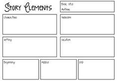 FREEBIE - Use this as a way to easily assess your student's understanding of the elements in a story they are reading. Please rate this product!Fonts by KG Fonts