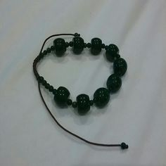 Selling this Dark green beaded bracelet in my Poshmark closet! My username is: karpediem22. #shopmycloset #poshmark #fashion #shopping #style #forsale #Jewelry