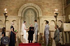 wedding ceremony at Universalist National Memorial Church