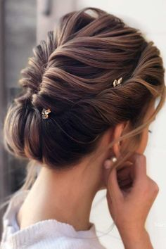 Fishtail Braided Low Bun ❤ Don't believe that you can get a stunning hair bun for short hair? See how many cool updos you can create! Your short locks are not an obstacle. #hairbunforshorthair #lovehairstyles #hair #hairstyles #haircuts