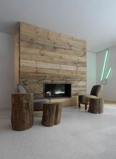 My fireplace surround- made out of pallets & FREE! | Pallet ...