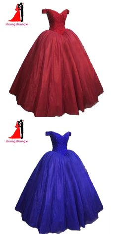 31864d535e2 2017 V-Neck RoyalBlue Quinceanera Dresses Crystal Beads Organza Ball Gown  Long Prom Dress Vestidos de 15 Anos