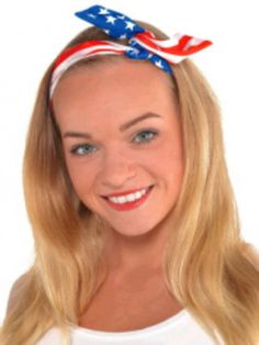 Check out Patriotic Headscarf from Wholesale Halloween Costumes Wholesale Halloween Costumes, Fourth Of July, Costume Ideas, Check, Fashion, Moda, Fashion Styles, Fashion Illustrations