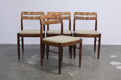 dining chairs, danish mid century modern, designed by H.W Klein for Bramin Mobler