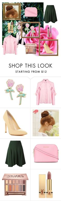 """""""Lady rose"""" by yasqueeeeen ❤ liked on Polyvore featuring Big Bud Press, Topshop, Ivanka Trump, Pin Show, Chloé, MICHAEL Michael Kors, Urban Decay and Yves Saint Laurent"""
