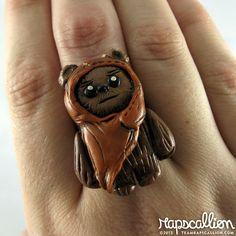Ewok Polymer Clay Ring. $18.00, via Etsy.