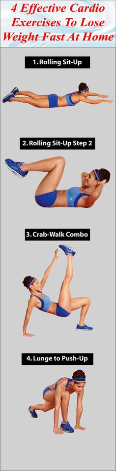 Cardio exercise is one of the effective ways to burn your extra calories; Discover 4 Effective Cardio Exercises To Lose Weight Fast At Home.