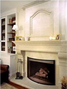 Biggest Sale Ever 50 off 72 Castello Cast Stone Fireplace Mantel Mantle Stone Fireplace Mantles, Stone Fireplace Surround, Stacked Stone Fireplaces, Rock Fireplaces, Home Fireplace, Fireplace Remodel, Fireplace Ideas, Fireplace Bookshelves, Mantle Ideas