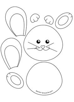 This bunny art project is adorable and so fun for kids to make! Kids will love using this easy chalk pastel technique to create this brightly colored Easter craft. Bunny Ears Template, Easter Bunny Template, Easter Templates, Bunny Templates, Easter Coloring Pages, Cute Coloring Pages, Easter Art, Easter Crafts For Kids, Easter Decor