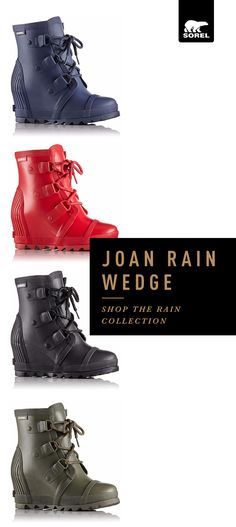Waterproof your walk while adding flawless finish to your favorite outfits with the Joan Rain Wedge. Inspired by our iconic Joan boot, it's equal parts elegant and tough, making it a new favorite for even the soggiest of day. Shop Joan Rain Wedge – the boot that will keep you comfortable, stylish, and slip-free today.