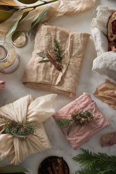Gift Wrapping Ideas-Simone LeBlanc's Swoony Holiday Gifts and Tea-Dyed Holiday Gift Wrap DIY Creative Gift Wrapping, Wrapping Ideas, Creative Gifts, Present Wrapping, Gift Wrapping Clothes, Japanese Gift Wrapping, Unique Gifts, Wrapping Papers, Diy Holiday Gifts