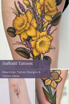 In the universe of pretty tattoos- floral designs are not going anywhere. Flowers, with their vibrant colors and intricate growing patterns, are a work of art all on their own. Calf Tattoos For Women, Girl Leg Tattoos, Unique Tattoos For Women, Cool Forearm Tattoos, Cool Tattoos For Guys, Cool Small Tattoos, Pretty Tattoos, Color Tattoos, Flower Tattoos