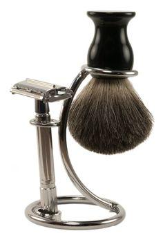 Amazon.com: Double Edge Safety Razor Shaving Kit: DE Razor, 100% Pure Badger Brush, Heavy Chrome Stand with Free Travel Case; Premium Wet Shave Set: Health & Personal Care