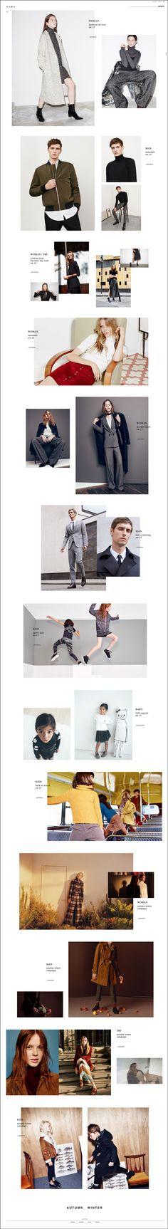 Zara - Editorial Page. Digital / Web Design. 12.10.15