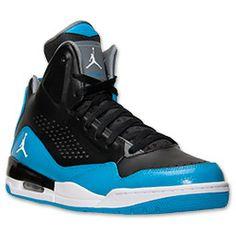 Men's Jordan SC-3 Basketball Shoes| Black/White/Dark Powder Blue/Cool Grey