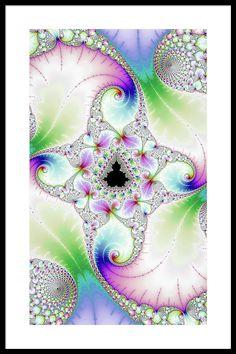 Bright Floral Fractal Paradise Pastel Colors Framed Print by Matthias Hauser