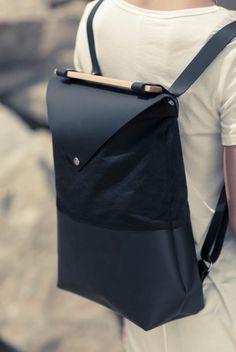 sac a dos tendance en cuir noir pour les filles chic