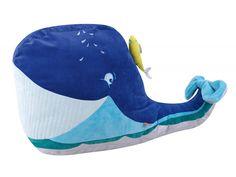 L'OISEAU BATEAU - GZE0002 - Pouf Gros Z'énormes - baleine 90 x 45 x 55 cm