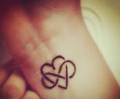 infinity heart tattoo