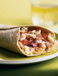 The Biggest Loser Energizing Bacon and Egg Breakfast Burrito:  251 calories per serving