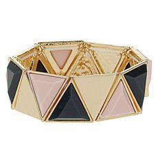 Triangle stretch bracelet ($22) ❤ liked on Polyvore