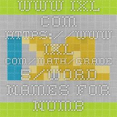 www.ixl.com - www.ixl.com/math/grade-5/word-names-for-numbers - match numbers