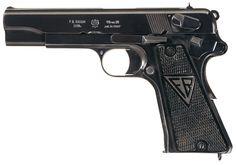 Bid on Lot Radom 35 Pistol 9 mm - Fixed sights, smooth backstrap, matching numbers. Pistol Holster, Fire Powers, Firearms, Hand Guns, Kentucky, Weapons, Auction, Antiques, Modern