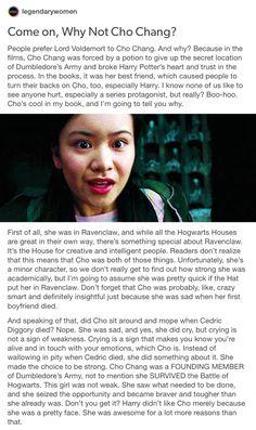 Why Not Cho Chang? part 1/2 // cho chang, Harry Potter, hp, Marietta edgecombe