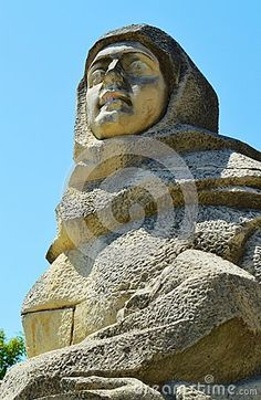 The Romanian soldier monument, bust of a female statue in Baia Mare, the capital of Maramures County.