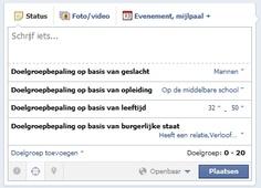 Gesegmenteerde updates voor doelgroep op Facebook nu voor iedereen beschikbaar