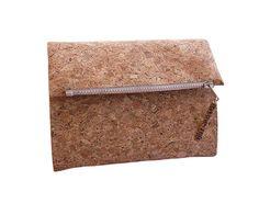 Kork Tasche oder auch Kork Clutch Vegan Wallet, Document Holder, Vegan Gifts, Pocket Wallet, Clutch, Mold And Mildew, Business Travel, Cork, Leather Wallet