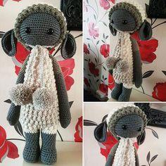 Lalylala lupo I made for myself using caron cakes cookies and cream. #lupo #lalylaland #laly #lalylala #handmade #yarn #crochetaddicted #crochetaddict #hooks #toy #toys #plush #plushie #dolly #dolls #doll #amugurumi #crochetingisfun #crocheting #wool #caroncakes #caron # crocheters #hooked #hookedonewecrochet #crochetersofinstagram