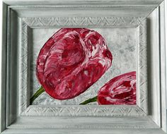 """""""Crimson Tulip"""" Original Available. Also Available as a Prints, Note Cards and Magnets."""