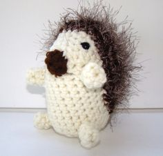 Crochet Hedgehog Woodland Creature by CreativeEndeavorsKS on Etsy, $28.00