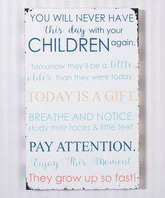 Look what I found on #zulily! 'Children' Wall Sign #zulilyfinds