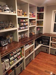 75 Amazing Dream Kitchen Ideas Decoration … 75 Amazing Dream Kitchen Ideas Decoration – - Own Kitchen Pantry Kitchen Pantry Design, New Kitchen, Kitchen Decor, Kitchen Sinks, Kitchen Ideas, Kitchen Cabinets, Kitchen Organization, Organization Ideas, Basement Kitchen