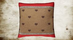 Shop Home Decor: Decorate your home with this wool pillow.Wool is a natural temperature regulator, naturally hypoallergenic, naturally breathable and even improves sleep quality. Decorate your home with this Hearts Wool boiled woolCotta Wool Pillows, Throw Pillows, Hunting Lodge Decor, Decorating Your Home, Sofa, Brown, Red, Home Decor, Cushions