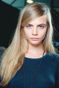 Cara in blonde & blue