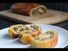 Rolada ziemniaczana z pieczarkami palce lizać :-) - YouTube Lunch Recipes, Cooking Recipes, Baked Potato, Banana Bread, Recipies, Veggies, Appetizers, Impreza, Dinner