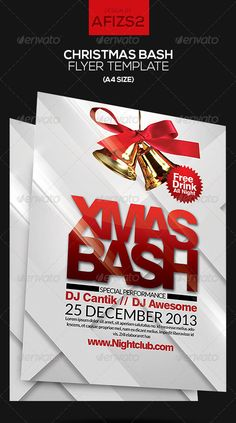 25 Christmas And New Year Party PSD Templates | Bashooka | Web & Graphic Design