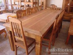 mesas de jantar em madeira rustica - Pesquisa Google