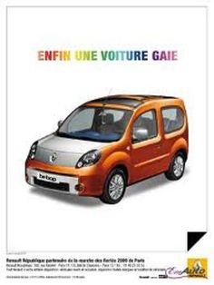 Publicité Renault Kangoo Be Bop dans Têtu