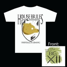BAYLOR Game of Thrones House Briles T-Shirt!! Football is Coming
