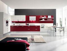 #Cucina ECHO > #arredamento #rosso