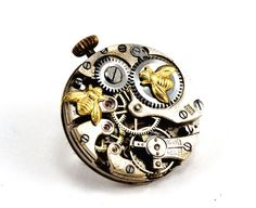 Steampunk Brooch Bee Brooch Vintage watch movement by Chanchala, £21.00
