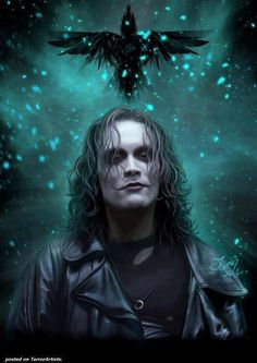 The Crow ~Gothic Art...i like the illumination in the background