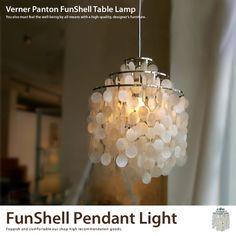 Verner Panton fun shell pendant light