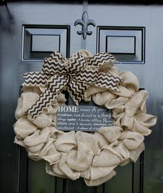 Burlap Wreath - Etsy Wreath - Summer wreaths for door  - Door Wreath - Monogram wreath - Wreaths - Wreath